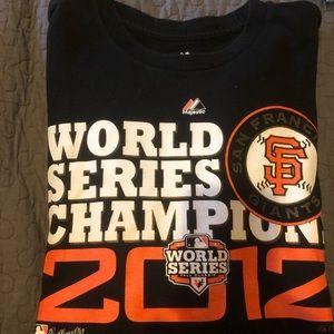 Men's giants 2012 tee shirt